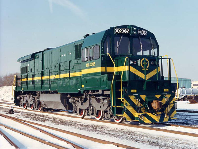 ND5型内燃机车第二批次式样1986年美国进口