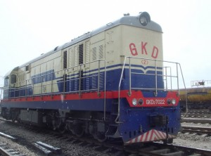 GKD2型电传动调车内燃机车7022号