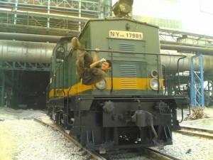 NY1003 型工矿用内燃机车东德进口