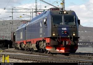 HXD3B型电力机车的原型车参考Iore-Kiruna