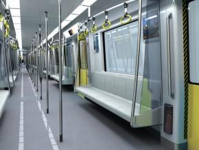 天津地铁2号线车辆内饰