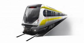 天津地铁2号线模型车
