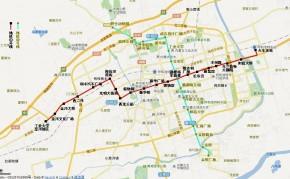 呼和浩特市地铁规划线路图(H1线、H2线)