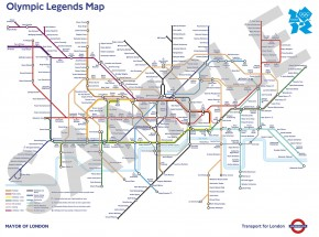伦敦地铁线路图