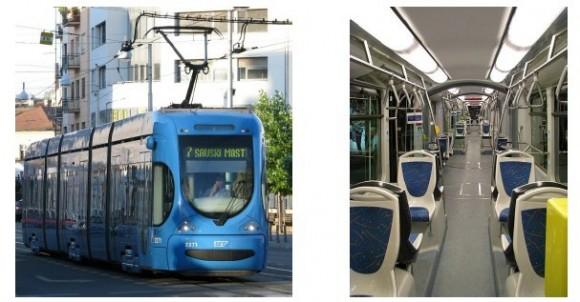 图3:萨格勒布的有轨电车主要车型TMK 2200